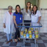 Senac faz doação de leite em pó para lares de idosos