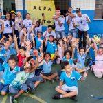 Aprendizes comemoram o Dia da Alfabetização com alunos de creche