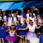 Alunos desenvolvem atividade na Passarela das Flores, no Mercado Central de Aracaju
